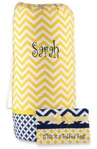 Monogrammed Laundry Bag - The Graduate by Mud Pie    Very cute laundry bag for all your dirty clothes !