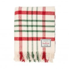 red & green throw