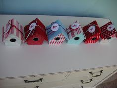Or so she says…:Birdhouse Treat Boxes ~ Perfect For A Birthday Party! (she: Leoni) - Or so she says...