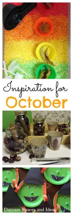 A collection of fun ideas to try for your Childcare Program in October!