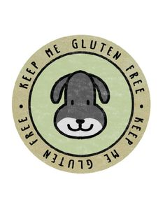 Farm Yard Dog – Keep Me Gluten Free Stickers – x18