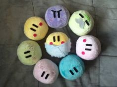 Very Soft Plush Dango (custom colors and faces) on Etsy, $15.00