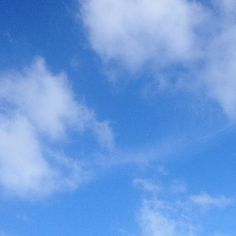 Airplane crossing. Can you see that tiny silver dot? #sky #cloud #airplane #mindfulafternoon
