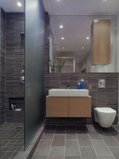 badezimmer deko moderne bader badezimmer in grau mit holz und ... - Deko Bei Grauen Badezimme