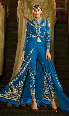 Blue Party wear Designer Suit