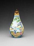 Snuff Bottle with Peony and Bird | China | Qing dynasty (1644–1911), Qianlong mark and period (1736–95) | The Met