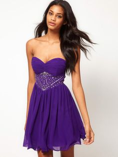 A-line Sweetheart Chiffon Short/Mini Sleeveless Sequins Party Dresses at Msdressy.com