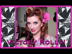 ▶ Victory Roll Vintage Hair Tutorial by CHERRY DOLLFACE. - YouTube