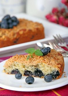Blueberry Crumb Cake by Kirsten| My Kitchen in the Rockies