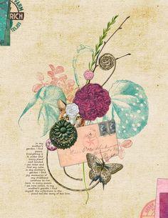 Art Journaling 102: Color Inspiration | Studio Tangie. Page by Leslie Harvey aka lharvey81