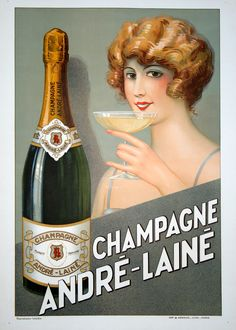 Andre Laine Champagne. c.1925.