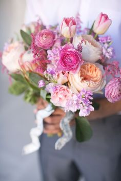 Lavender, Peach, Pink Bouquet