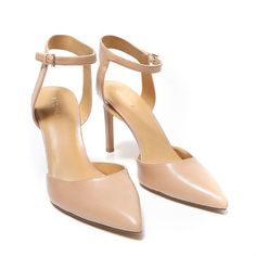 CAPRICIOUS - SALE. $79.00 $45.00 Save 43%, UP TO US 15. Boasting a sexy 3.75″ heel, these Nine West leather pumps are a staple piece every women should own. The ankle strap adds an elegant look to already gorgeous heel for tall women.