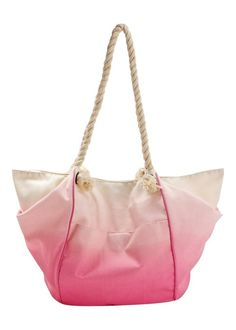 Ombre Rope Beach Bag by Matalan
