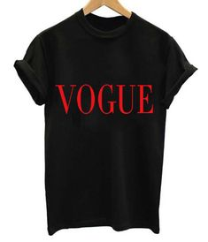 "Wear+this+""Vogue""+printed+shirt+and+show+your+friends+and+peers+some+new+style+of+shirt!    -+Composed+of+Acrylic,+Polyester,+Spandex+and+Cotton  -+Sizes+available+are+from+S+to+XL.  -+Broadcloth,+O-neck,+T-shirt"