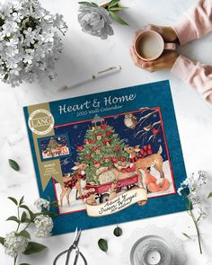 Heart and Home 2020 Special Edition Wall Calendar Wall Calendars, Embossed Paper, Colour Images, Home And Garden, Brass, Elegant, Heart, Artwork, Color