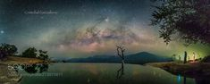 The Photographers under Milky way at Hierve el Agua - Great  Panoramic view and amazing reflections at Hierve el Agua. Oaxaca