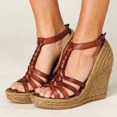 "Sam Edelman Leroy Espadrille Wedges Cute summer wedges. Approximately 4"" heel. Brown leather braid detailing. Worn less than 5 times. Sam Edelman Shoes Wedges"