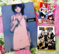 Funimation anime trading cards: Soul Eater, Fairy Tail, Lain!