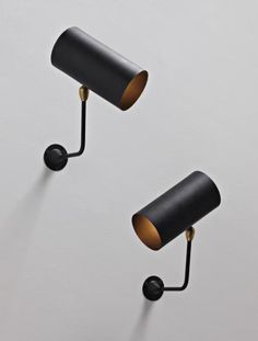 Pair of 'Tube' wall lamps
