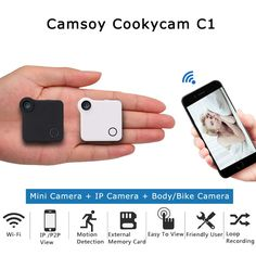 Mini Wireless Cam is your solution to remote recording! The sleek compact design and brilliant features will allow you to capture all the great moments in your life instantly. Security Surveillance, Security Camera, Security Alarm, Mini Wireless Camera, Wifi, Site Restaurant, Wireless Home Security Systems, Security Products, Best Home Security