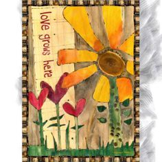 "By Stephanie Burgess of Painted Peace.  Wall Canvas -12"" x 16.5""…"