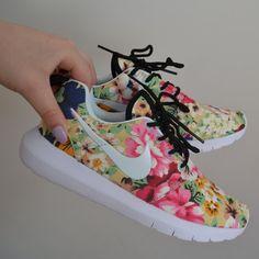 Nike Roshe encargo Run 2 Flores de encargo Roshe Verde Manzana Zapatillas para 80e14e