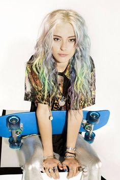 cool #coloured #wavy hair