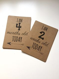 Baby Milestone Cards Unisex Neutral Colour by EllieMaryDesigns