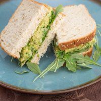 Smashed Chickpea & Avocado Salad Sandwich | Big Flavors from a Tiny Kitchen