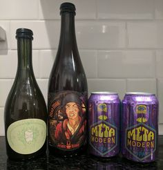 Beer mail!  Mad Meg & Bière De Blanc Du Bois from @jesterkingbrewery and Meta Modern cans from @oasistxbrewing!