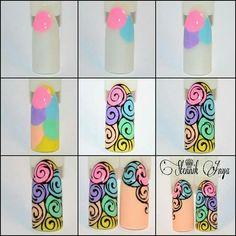 Pin by dida on how to do ! 3d Nail Art, Nail Arts, Flower Nail Designs, Nail Art Designs, Spring Nails, Summer Nails, Diy Nails, Cute Nails, Nail Art Modele