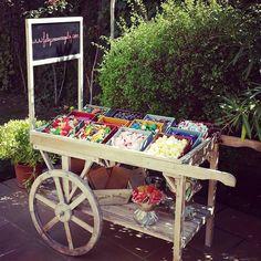 Carrito dulce Ideas Para Fiestas, Bar, Candy, Marketing, Relleno, Foyer, Birthday, Wood, Sweet