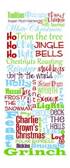 Christmas writing for Christmas play joy to the world
