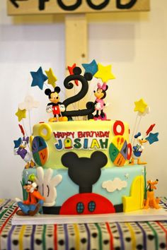 Mickey Mouse Clubhouse 2nd Birthday Party Ideas if I have a party for izzy I want this cake she would love it