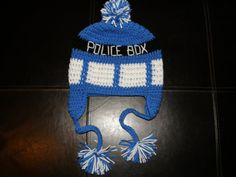 dr who crochet Deluxe Tardis Hat by LittleDebiSnack Designs on Etsy dr who, tardis, crochet