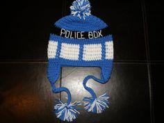dr who crochet Deluxe Tardis Hat by LittleDebiSnack Designs on Etsy dr who, tardis, crochet