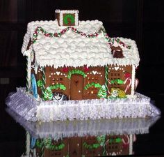 Cat Lovers Gingerbread House: I made this house for a cat lover who said it was just Purrfect.