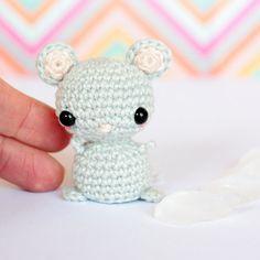 Mini crochet mouse doll Crochet amigurumi animals doll by SoCroch