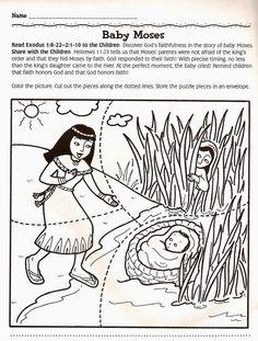 Puzzel Mozes / Moises * 1500 free paper dolls at international artist Arielle Gabriels The International Paper Doll Society also free Chinese paper dolls The China Adventures of Arielle Gabriel *