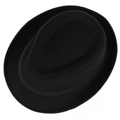Unisex Jazz Cap Vintage Woolen Bucket Trilby Brim Fedora Panama Hat at Banggood