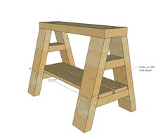 Modern Indsutrial Adjustable Sawhorse Desk to Coffee Table | Ana White