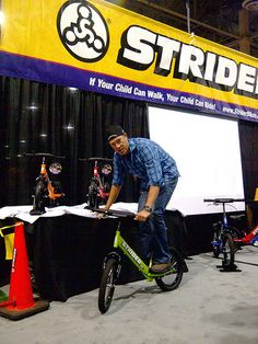Tom Danielson, Cycling PRO from Garmin Racing team testing out our Super STRIDER at Interbike. Striders, Racing Team, Cycling, Champion, Toms, Bike, Children, Sports, Bicycle Kick
