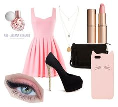 Spring by danielle-777 on Polyvore featuring polyvore beauty Charlotte Tilbury Kate Spade Warehouse Giuseppe Zanotti