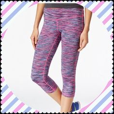 Ideology Multi Color TightFit Capris Brand new Ideology Summer Pulse Pink Multi capris. If you're not familiar with this brand, it's from Macy's and fits just like Nike Tight Fit Legends. Sweat proof material, very flattering on. Smoke free home. No trades. Ideology Pants Capris