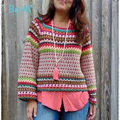 Pull Crochet, Crochet Jumper, Crochet Coat, Crochet Cardigan, Crochet Granny, Crochet Clothes, Crochet Stitches, Crochet Patterns, Summer Coats