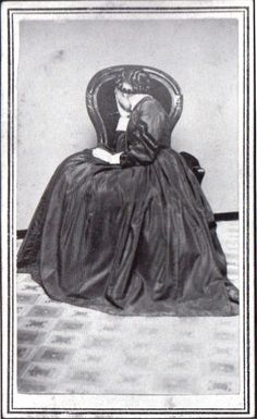 ca. 1860-80's, [portrait of a woman in mourning] (my guess is this is closer to 1860s)