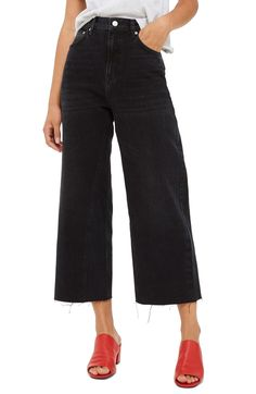 Free shipping and returns on Topshop Wide Leg Crop Jeans at Nordstrom.com. Cut with raw edges and a cropped silhouette, these high-waist jeans perfectly complete any trend-right ensemble.