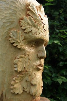 Green men are different from wood spirits in that the face is composed of leaves and foliage.