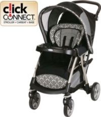 Lightweight travel never looked so good! The Graco Urban Lite Stroller in Rittenhouse accepts any Top Rated Graco infant car seat to create your own travel system.